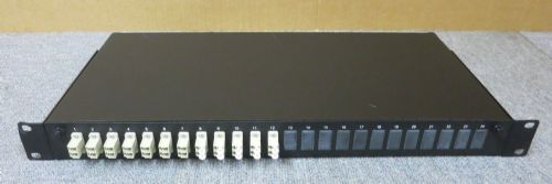 "Fibre Optic Network 12 Port Black LC Loaded 1U 19"" Fibre Optic Rack Mount Patch"